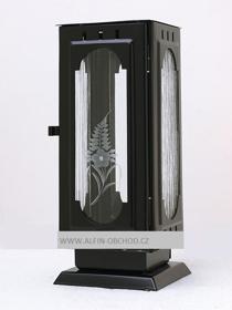 Obrázek Svítilna na postavení - gotika černá