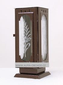 Obrázek Svítilna na postavení - gotika staroměď