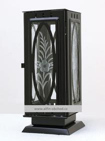 Obrázek Svítilna na postavení výstřih ovál černá