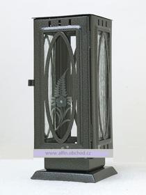 Obrázek Svítilna na postavení výstřih ovál starostříbro