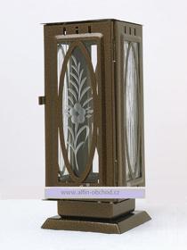 Obrázek Svítilna na postavení výstřih ovál starozlato