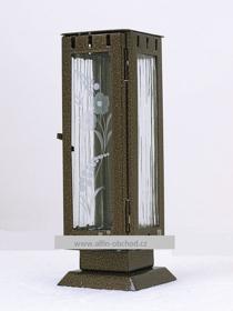 Obrázek Svítilna na postavení - mini - starozlato