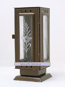 Obrázek Svítilna na postavení malá standart starozlato