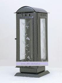 Obrázek Svítilna na postavení  oblá střecha - malá - starostříbro