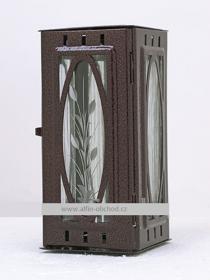 Obrázek Svítilna na pomník závěsná malá výstřih ovál - staroměď