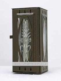 Obrázek Svítilna na pomník závěsná malá výstřih ovál - starozlato