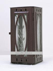 Obrázek Svítilna na pomník závěsná velká výstřih ovál - staroměď