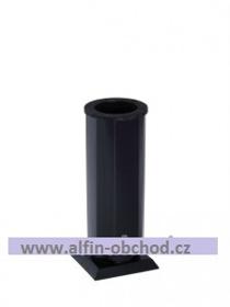 Obrázek Váza čtyřboká na postavení černá