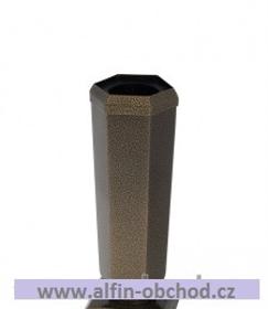 Obrázek Váza na postavení kónická velká starozlato