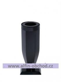 Obrázek Váza na postavení zaoblená s kroužkem černá