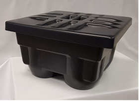Obrázek Schránka na 4 urny do země plast prolisovaná