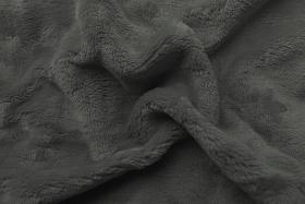 Obrázek Prostěradlo mikroflanel tmavě šedá 90x200x20 cm