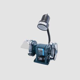 Obrázek Bruska el. stolní dvoukotoučová 150mm/300W + svítidlo 40W