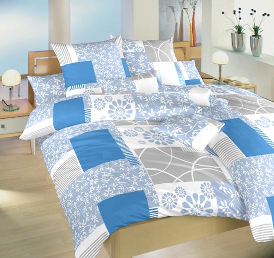 Obrázek z Povlečení satén Bluemoon modrý 140x200, 70x90 cm