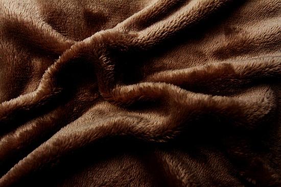 Obrázek z Prostěradlo mikroflanel tmavě hnědá 90x200x20 cm