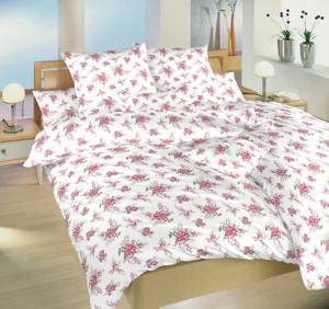 Obrázek z Povlečení bavlna Velké růže růžové 220x220 cm povlak
