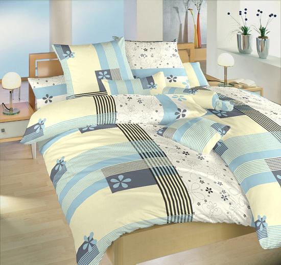 Obrázek z Povlečení bavlna Flér modrá 140x200, 70x90 cm