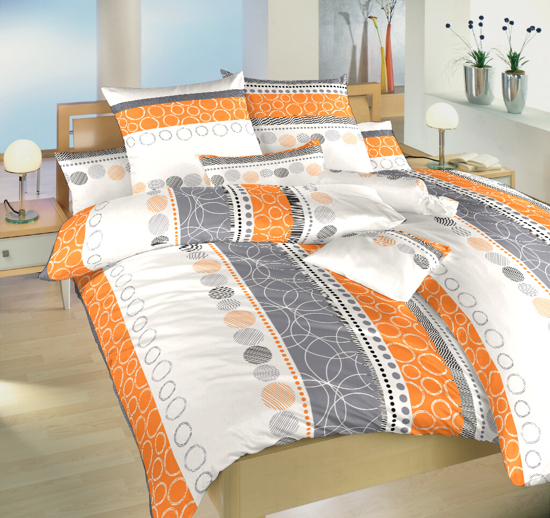 Obrázek z Povlečení bavlna Ateliér oranžový 140x220, 70x90 cm