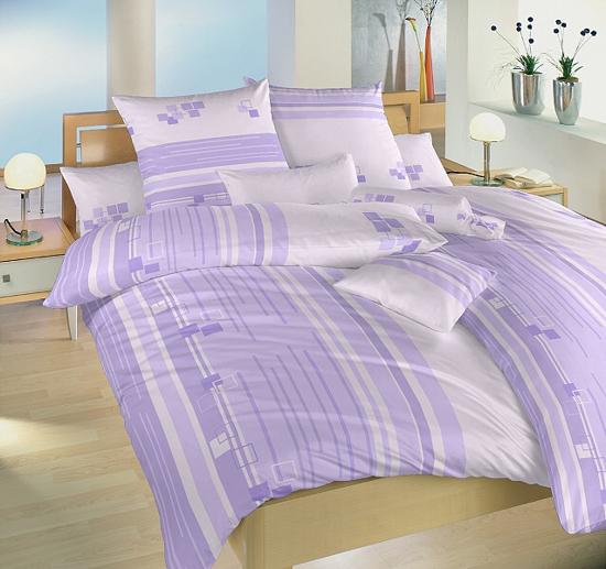Obrázek z Povlečení bavlna Kostky fialové 240x200, 2x70x90 cm