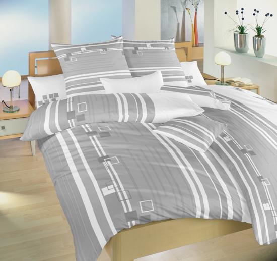 Obrázek z Povlečení bavlna Kostky šedé 200x200 cm povlak