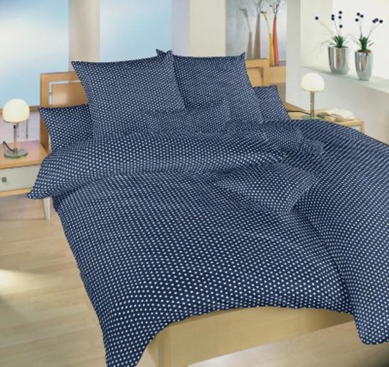 Obrázek z Povlečení bavlna Hvězdička bílá na tmavě modrém