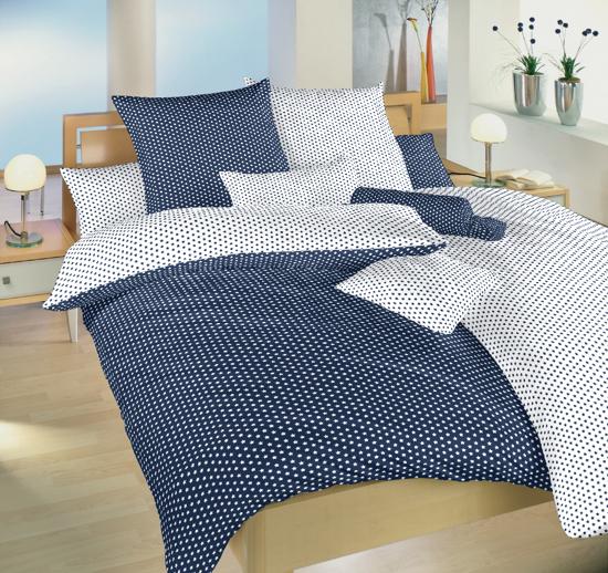 Obrázek z Povlečení bavlna Hvězdička bílá/tmavě modrá DUO 40x50 cm