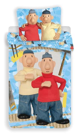 Obrázek z Povlečení bavlna Pat a Mat blue 04 140x200, 70x90 cm