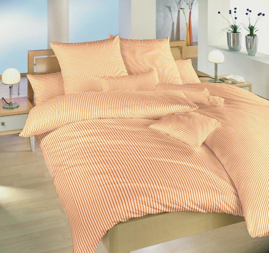 Obrázek z Povlečení bavlna Proužky oranžové 140x200, 70x90 cm