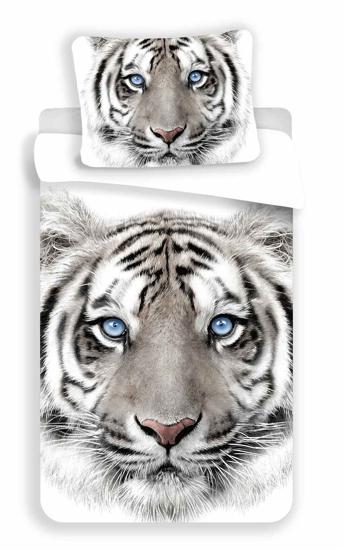 Obrázek z Povlečení fototisk White Tygr 140x200, 70x90 cm