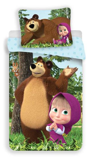 Obrázek z Povlečení Máša a Medvěd Forest 140x200, 70x90 cm