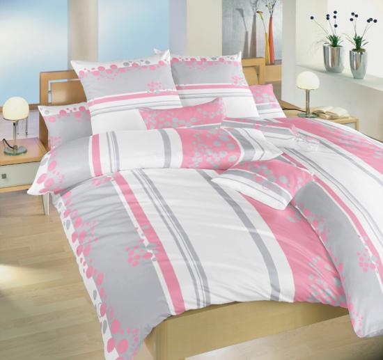 Obrázek z Povlečení bavlna Tečky růžové 140x220, 70x90 cm