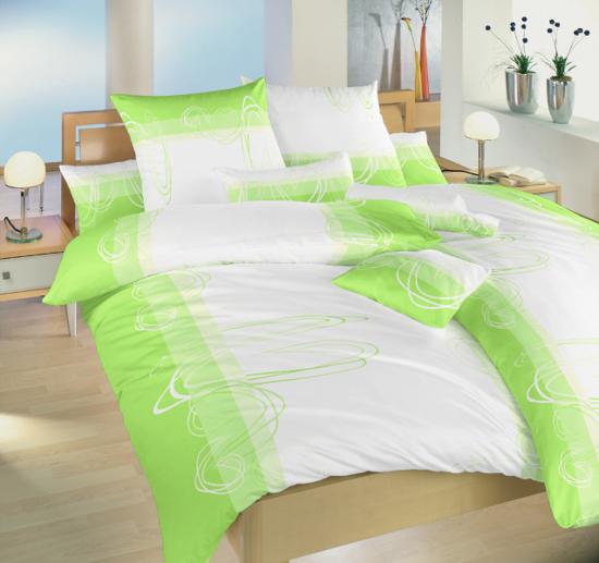 Obrázek z Povlečení bavlna Smyčky kiwi 240x220 cm povlak