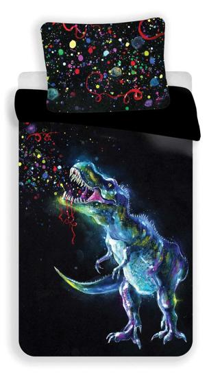 Obrázek z Povlečení fototisk Dinosaur Black 140x200, 70x90 cm