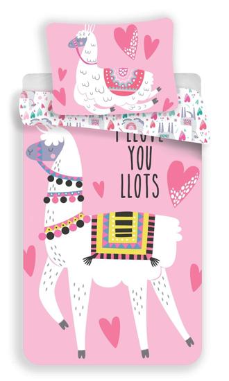 Obrázek z Povlečení Llama pink 140x200, 70x90 cm