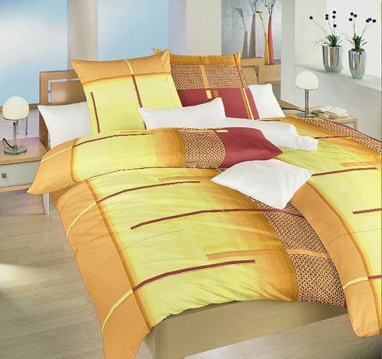 Obrázek z Povlečení bavlna Řetízky oranžové 70x90 cm povlak