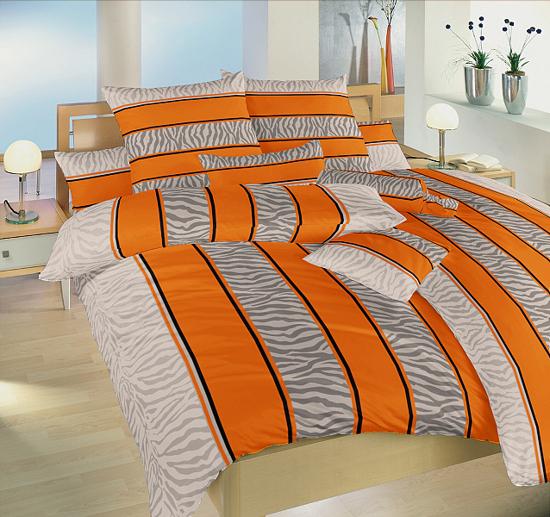 Obrázek z Povlečení bavlna Safari oranžové 140x220, 70x90 cm
