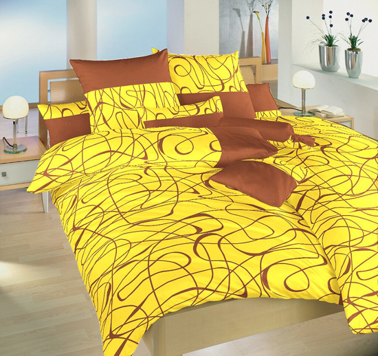 Obrázek z Povlečení satén Balerína žlutá 240x200 cm povlak