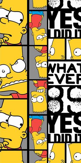 Obrázek z Osuška Simpsons Bart 89 70x140 cm