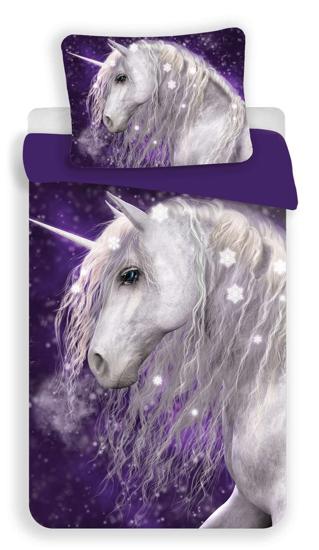 Obrázek z Povlečení Unicorn purple 140x200, 70x90 cm