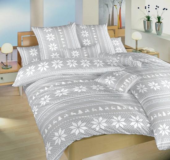 Obrázek z Povlečení bavlna Sobi šedí 140x220, 70x90 cm