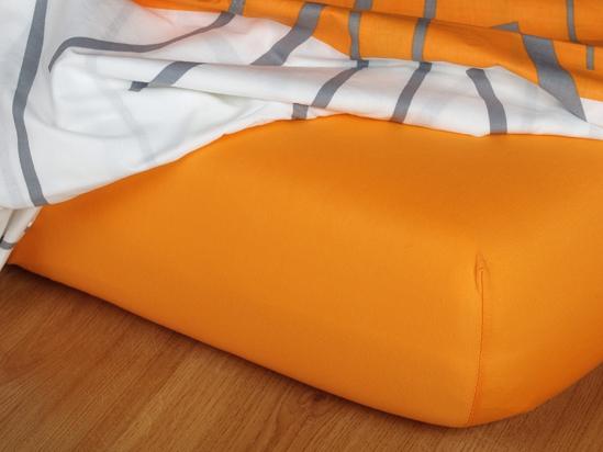 Obrázek z Jersey prostěradlo pomeranč 200x200 II.jakost