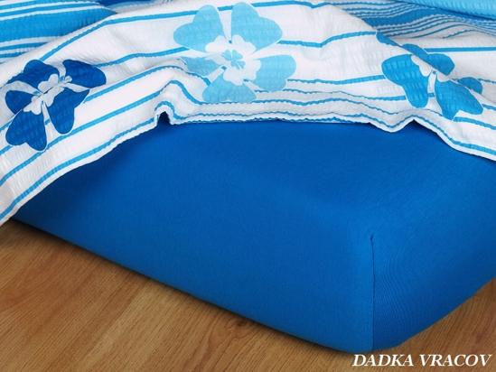 Obrázek z Jersey prostěradlo královská modř 90x200x18 II.jakost