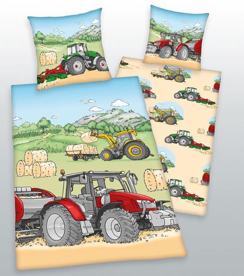 Obrázek z Povlečení Herding bavlna Traktor 140x200, 70x90 cm