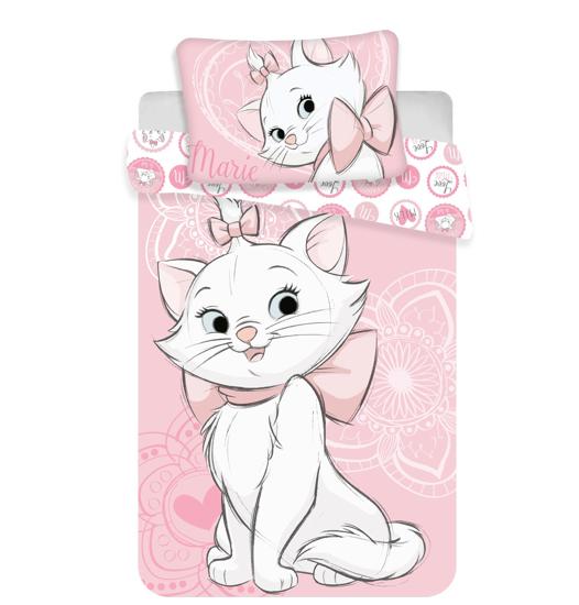Obrázek z Povlečení Marie Cat pink heart 140x200, 70x90 cm