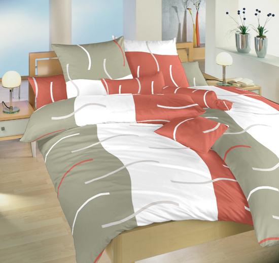 Obrázek z Povlečení flanel Island terakota 240x200, 2x70x90 cm