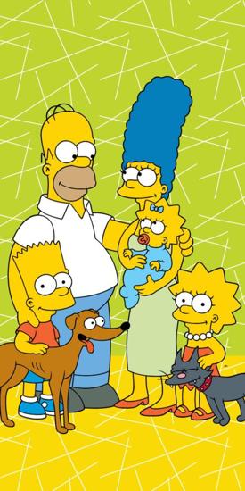 Obrázek z Osuška Simpsons family green 02 70x140 cm