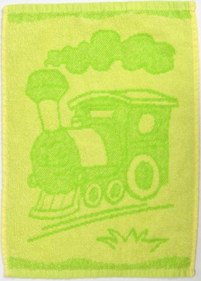 Obrázek z Dětský ručník Train green 30x50 cm