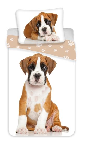 Obrázek z Povlečení fototisk Dog brown 140x200, 70x90 cm