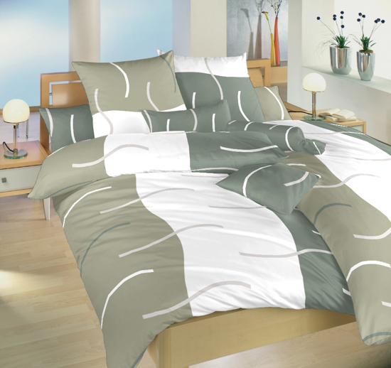 Obrázek z Povlečení bavlna Island šedý 140x200, 70x90 cm II.jakost