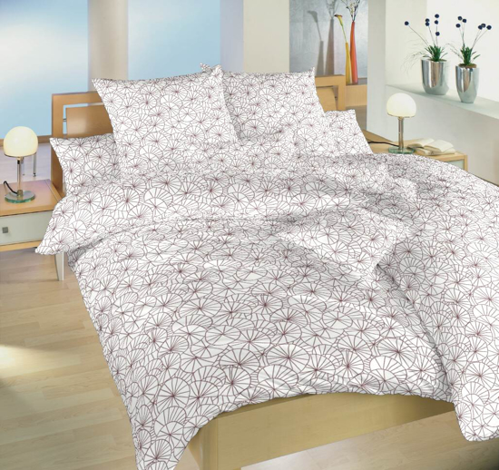 Obrázek z Povlečení bavlna Leknín bordó 140x220 cm povlak